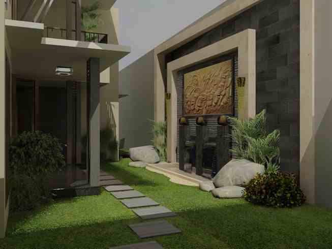 Contoh Desain Taman Minimalis Dengan Paving | model desain taman minimalis depan rumah di lahan sempit | Desain Taman Minimalis Cantik Depan Rumah