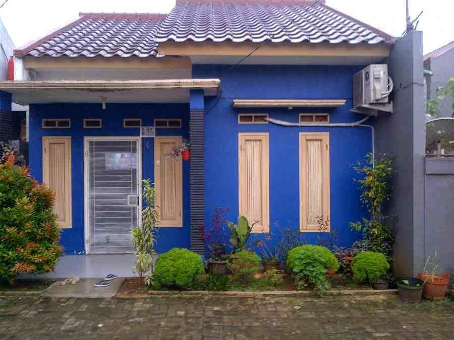 Contoh Warna Cat Rumah Minimalis Biru | Contoh Warna Cat Rumah Hijau Tampak Depan