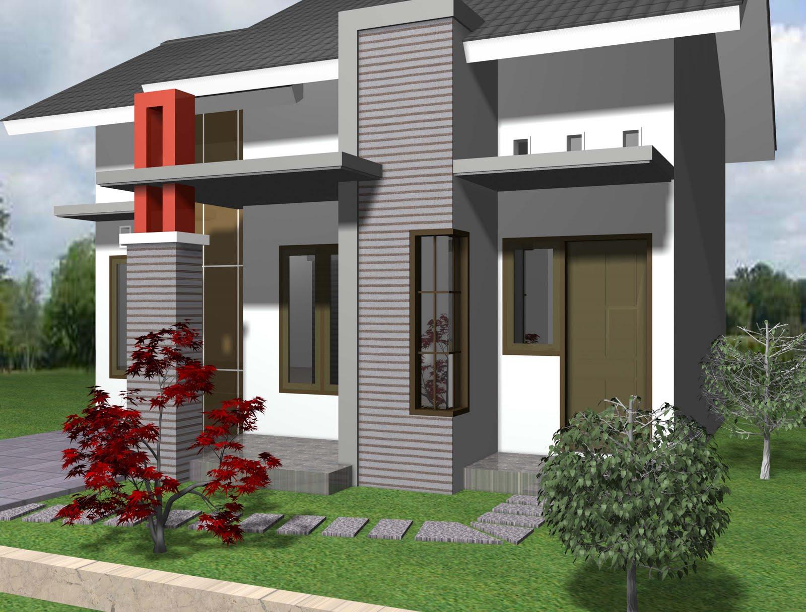 Desain Gambar Rumah Minimalis Type 21 1 Lantai | Contoh Rumah Minimalis Type 21 2 Lantai