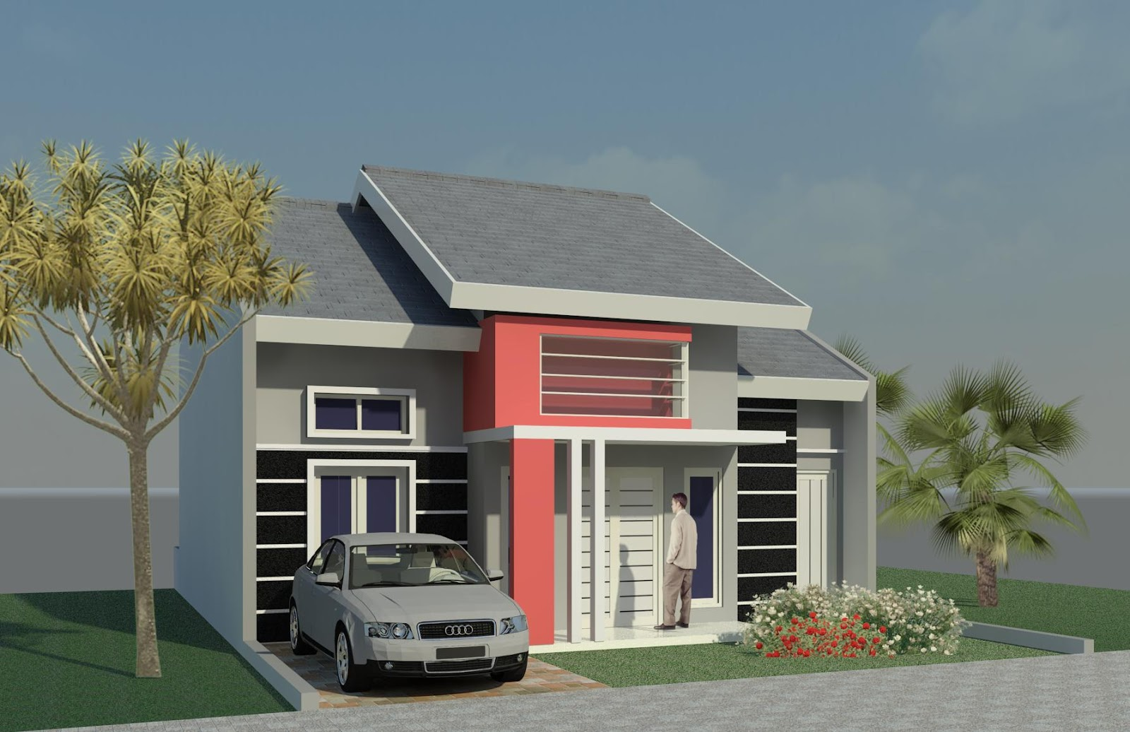 Gambar Rumah Minimalis Type 21 1 Lantai | Gambar Desain Rumah Minimalis Type 21 2 Lantai