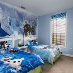 Interior Kamar Tidur Anak Perempuan Frozen