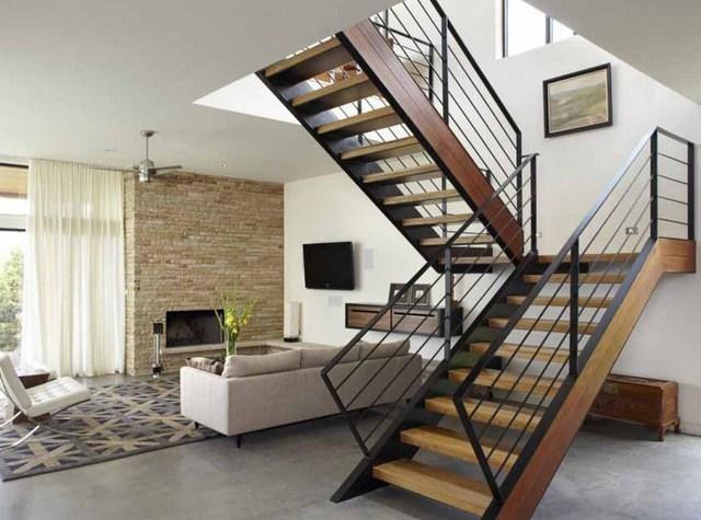 railing tangga minimalis modern:  16 desain tangga dan railing tangga untuk rumah minimalis
