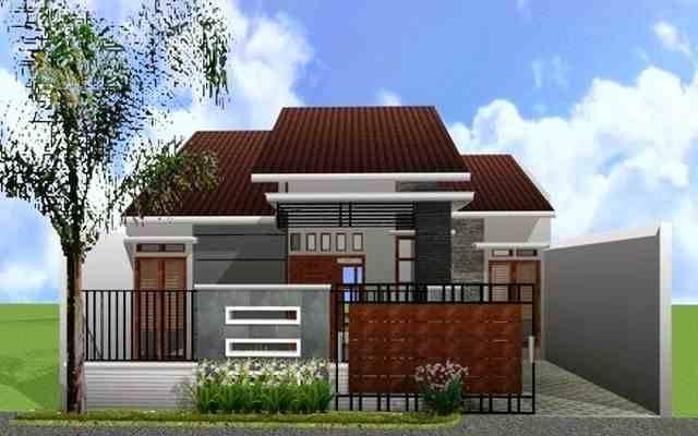 Warna Cat Rumah Minimalis Tampak Depan | Contoh Tampak Depan Rumah Minimalis Type 36