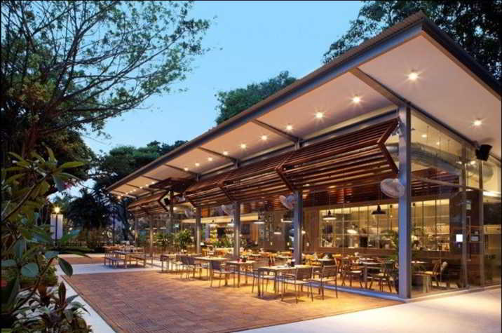 Contoh Model Cafe Outdoor Modern
