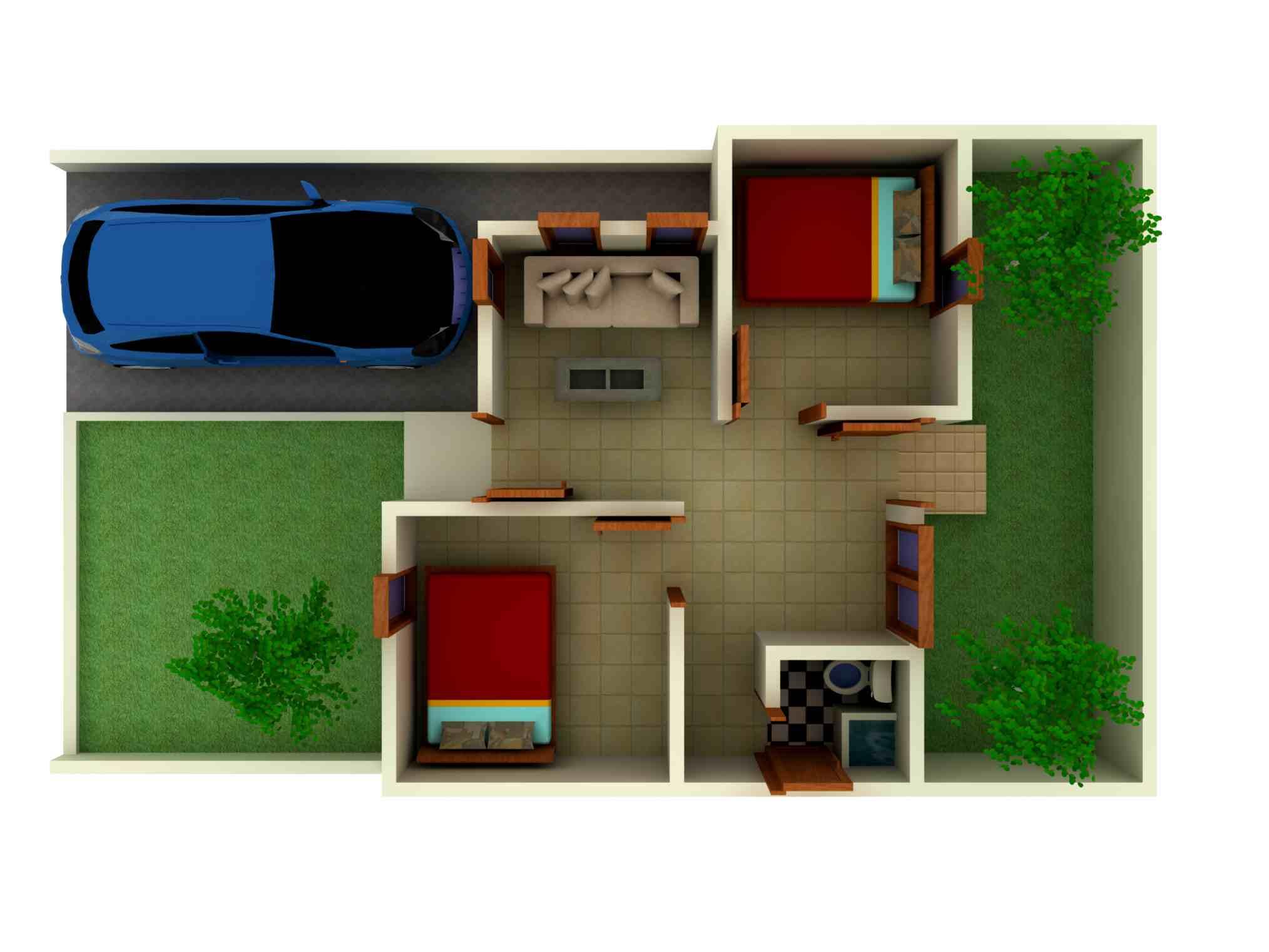 Desain Interior Rumah Tipe 36 1 Lantai | Desain Interior Rumah Minimalis Type 36 1 Lantai