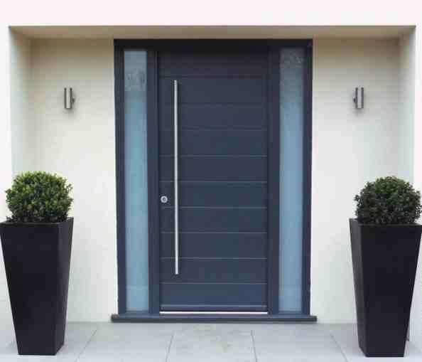 Desain Pintu Utama Minimalis Aluminium | 14 model desain pintu utama rumah minimalis terbaru | 14 Contoh Model Pintu Rumah Minimalis Modern