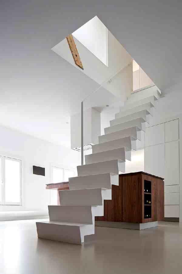 Desain Tangga Rumah Melayang Minimalis Sederhana | Tangga Rumah Melayang Minimalis Elegan