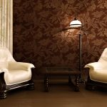 Desain Wallpaper Dinding Ruang Tamu Coklat | Model Wallpaper Dinding Vinyl