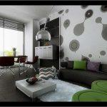 Desain Wallpaper Dinding Ruang Tamu Kontemporer