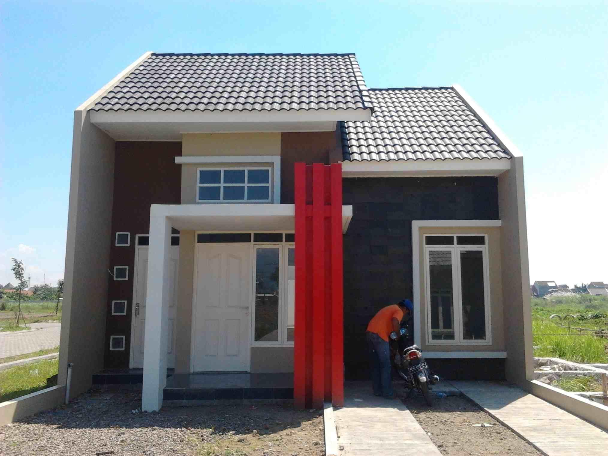 foto tampak depan rumah type 45 minimalis 1 lantai - eksterior rumah