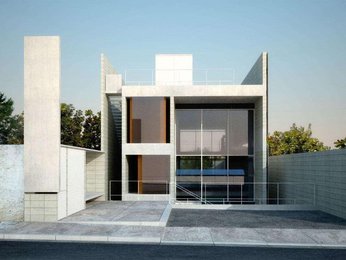Gambar Rumah Kaca Sederhana Tampak Depan | Gambar Rumah Kaca 2 Lantai Modern