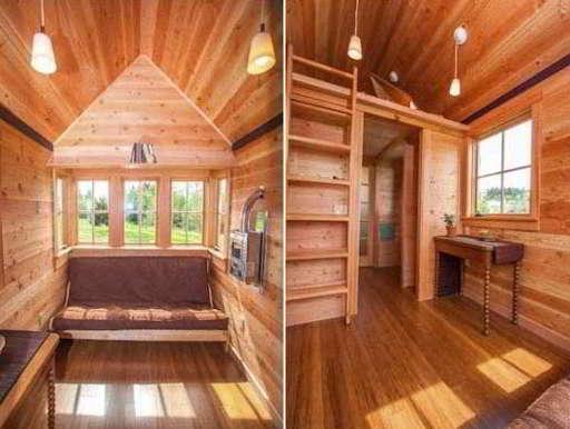 Interior Rumah Semi Permanen Kayu Minimalis | Contoh Rumah Semi Permanen Sederhana Minimalis