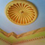 Kombinasi Warna Plafon Rumah Biru Hijau Krem