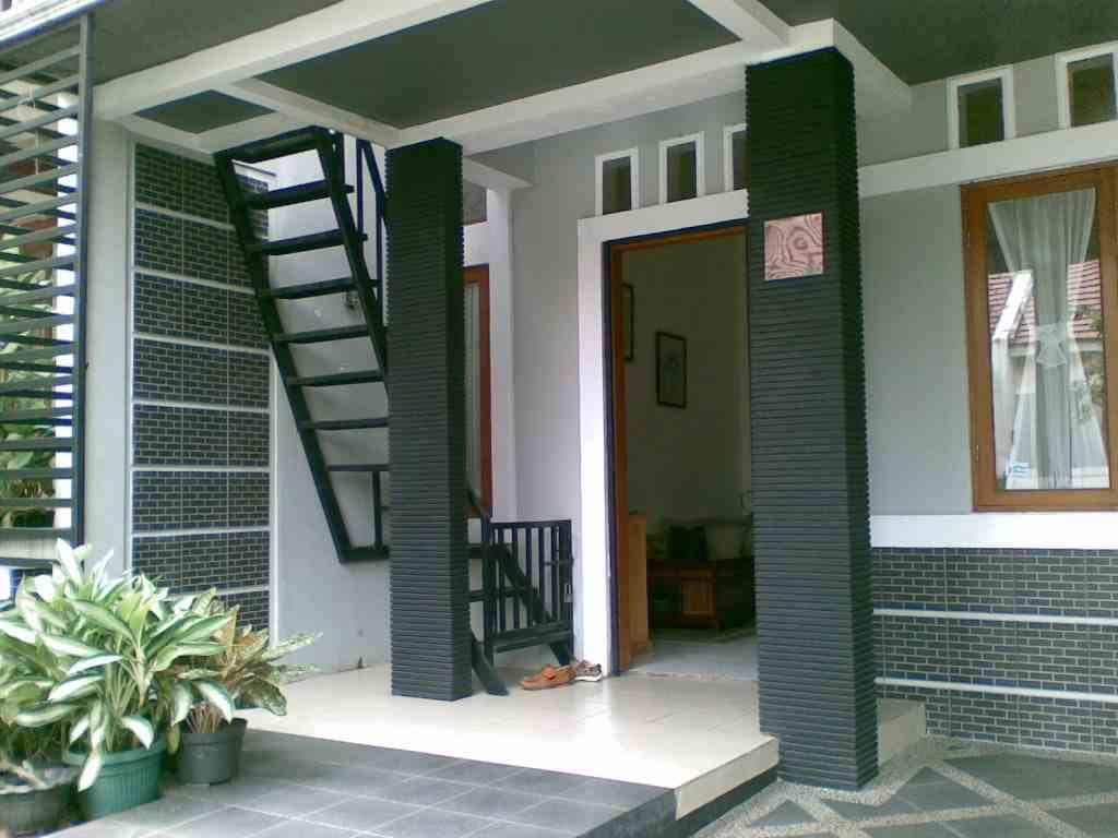 Model Desain Tangga Teras Rumah Minimalis | 18 contoh model desain tangga rumah minimalis modern sederhana | 18 Desain Tangga Rumah Minimalis Sederhana Modern