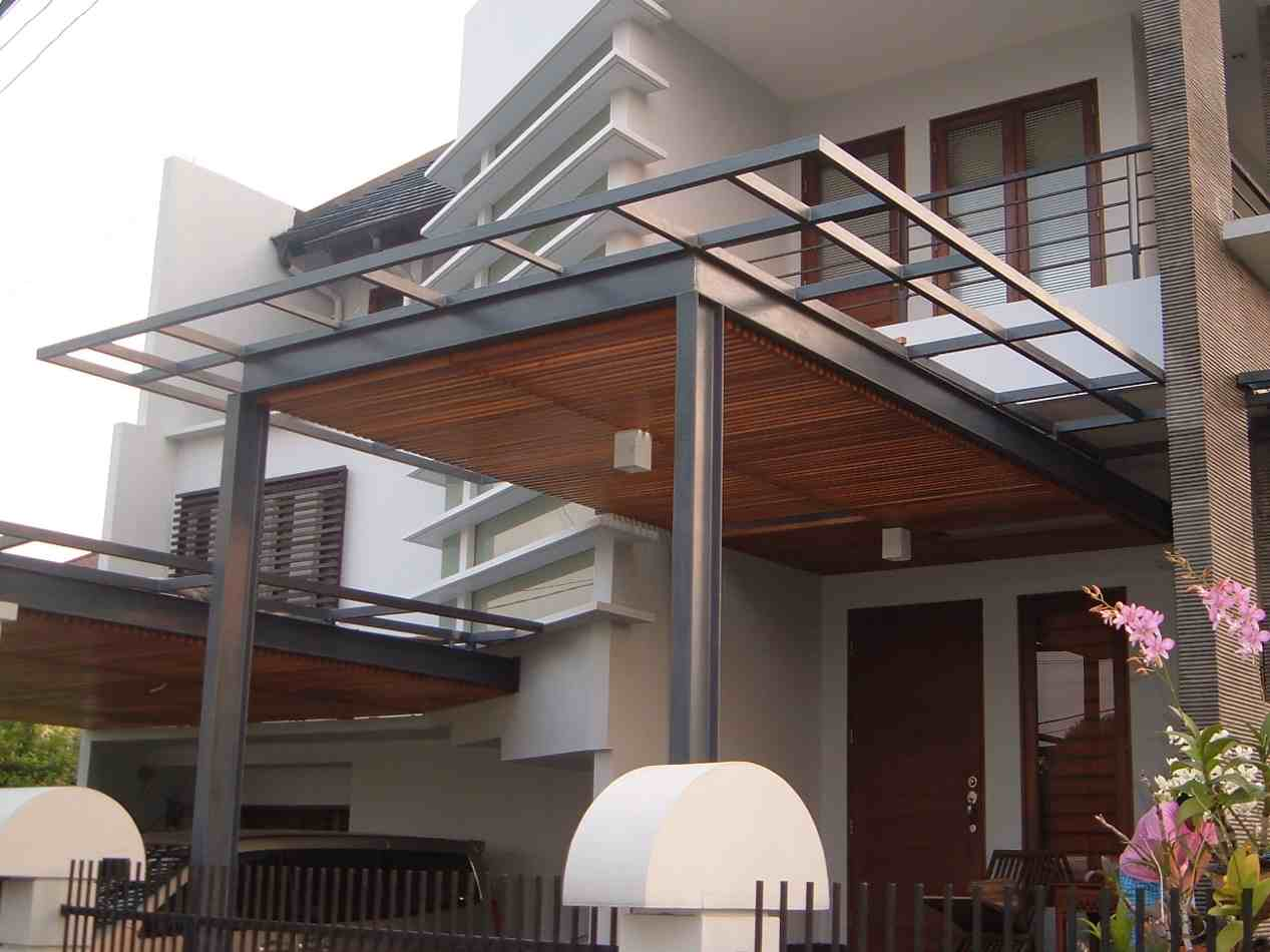 Model Kanopi Kayu Minimalis | contoh foto dan desain kanopi rumah minimalis modern | Model Canopy Minimalis Modern