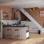 Model Kitchen Set Minimalis Elegan | Desain Kitchen Set Bawah Tangga Minimalis Modern