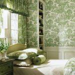 Motif Wallpaper Dinding Kamar Tidur Hijau
