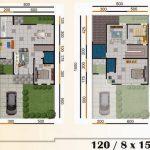 Desain dan Denah Rumah Minimalis Type 120