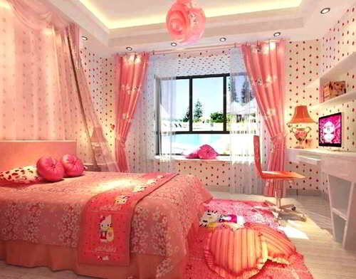 Wallpaper Dinding R Tidur Hello Kitty